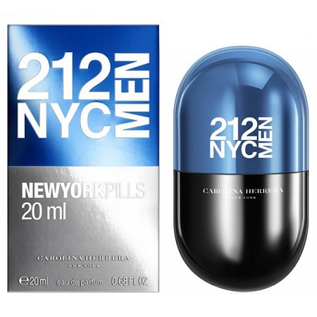 212 NYC Men New York Pills cologne for Men by Carolina Herrera