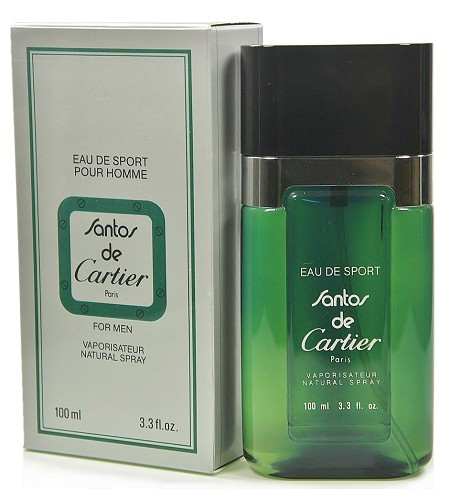 Santos De Cartier Eau De Sport cologne for Men by Cartier