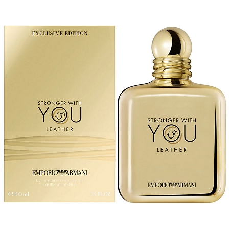 Emporio Armani Stronger With You Leather cologne for Men by Giorgio Armani