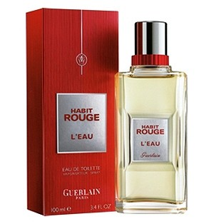 Habit Rouge L'Eau cologne for Men by Guerlain