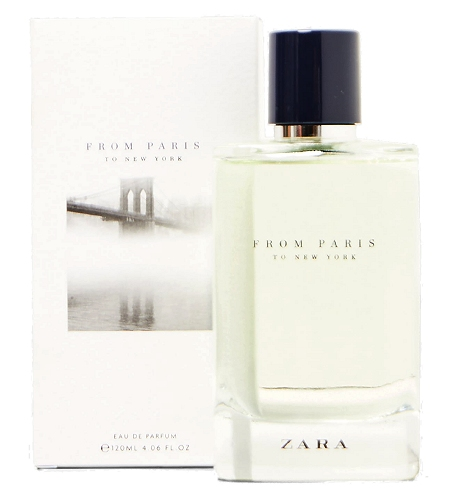 From Paris to New York cologne for Men by Zara