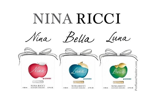 Les Belles de Nina Kiss The Frog New Perfumes Nina Luna Bella